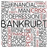 Word cloud - bankrupt