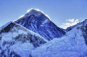 Mount Everest Summit (8848m) before sunrise as seen from Kala Patthar summit