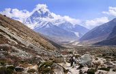 Khumbu Valley in the Sagarmatha (Mount Everest) National Park in Nepal