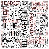 Word cloud - telemarketing