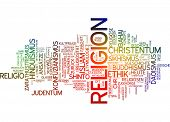 Word cloud - religion