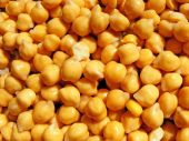 Yellow chick-peas background