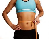 Pretty Athlete Measures Her Belly
