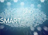 stock photo of smart grid  - Word cloud  - JPG