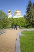 SOFIA, BULGARIA - MAY 02: Alexander Nevski Cathedral in Sofia, Bulgaria  on May 02, 2012