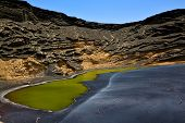 Coastline And Summer In Il Golfo Lanzarote Spain