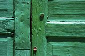 Lanzarote Abstract Door Wood Green