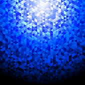 Blue shimmer background.Glittering sequins mosaic pattern.