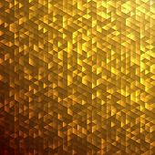 Gold sparkle glitter background.Glittering sequins mosaic pattern.
