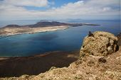 Sky Cloud Beach  Water  Coastline And Summer In Lanzarote Spain Graciosa