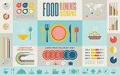 stock photo of hamburger-steak  - Flat Food Infographic Elements plus Icon Set - JPG