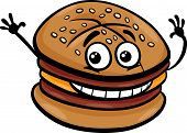 Cheeseburger Cartoon Character