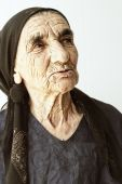 Elderly Woman Sideview