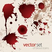 Splattered Blood Stains Set