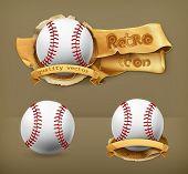 Baseball, vector icon
