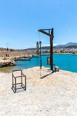 Old  Venetian Harbor In Rethymno, Crete, Greece
