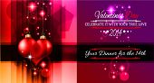 Valentine's Day template with stunning hearts and colors for your flyer backgrounds.