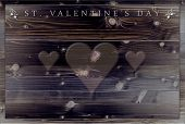 Menu or card background for Valentine's Day