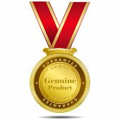 Genuine Product Gold Medal
