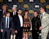 LOS ANGELES- JAN 7: Tim Robbins, Haley J Osment, Steve Tom, Tobey Maguire, Kristen Wiig, David Spade, Will Ferrell at the