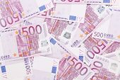 Five hundred euro notes.