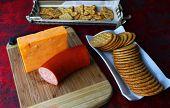 Cheese block background