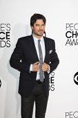LOS ANGELES - JAN 8:  Ian Somerhalder at the People's Choice Awards 2014 Arrivals at Nokia Theater a