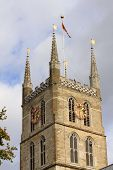 The Tower Of The Southwark Cathedral In London