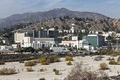 LA CANADA FLINTRIDGE, CALIFORNIA - January 8, 2014:  View of historic Jet Propulsion Laboratory in Southern California.