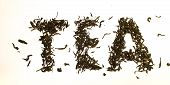 Word Tea Made From Tea Leaves