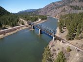 Montana River And Trestle