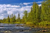 Polisarka River. Kola Peninsula.