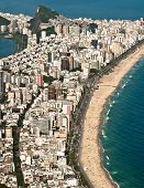 picture of ipanema  - Aerial View of Ipanema and Leblon Beach from the Mountain in Rio de Janeiro - JPG