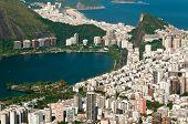 stock photo of ipanema  - Rio de Janeiro Ipanema and Copacabana districts aerial view from the mountain - JPG