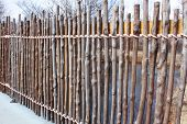Bamboo sticks fence