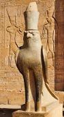 Statue Of Horus In Edfu Temple