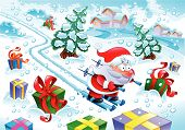 Santa Claus in the snow -