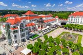 SOPOT, POLAND - 7 JUNE: Square at the Sopot Molo on 7 June 2014. Sopot is major health and tourist r