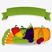 Group Of Vegetables With A Ribbon.