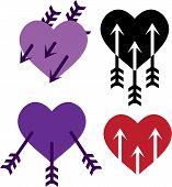 Arrows in the heart