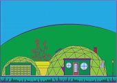 Geo dome house