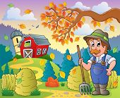 Autumn farm theme 9 - eps10 vector illustration.