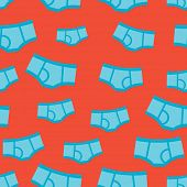 image of boxer briefs  - Seamless little boy blue under pants funny underwear illustration background pattern in vector - JPG