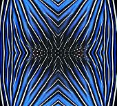 Beautiful Pattern Made From Blue And Black Bird Feathers For Background And Design