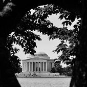 Jefferson Memorial in Washington D.C. - Black and White