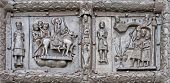 Ancient Bronze Gates With Scenes From The Bible