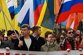 Boris Nemtsov And Ilya Yashin On The Peace March In Support Of Ukraine