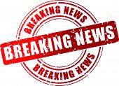 Vector Breaking News Stamp
