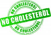 Vector Stamp No Cholesterol