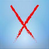 red grunge x background